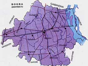 Map of Bogra