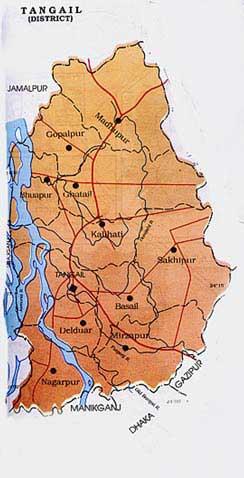 Tangail - Tangail map